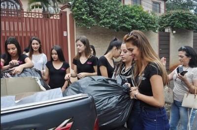 Candidatas a Miss Paraguay llevaron ayuda solidaria