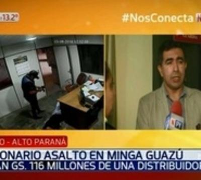 Millonario asalto a distribuidora en Alto Paraná
