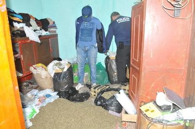 Detienen a presunto narco e incautan unos 140 kilos de marihuana en Pdte. Franco
