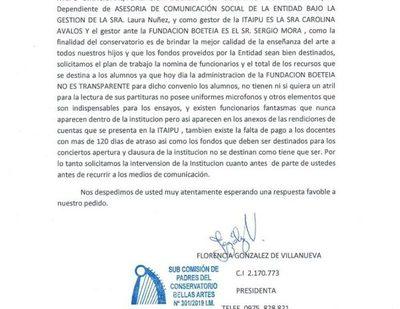 Padres denuncian graves irregularidades en manejo de Bellas Artes, con Boeteia