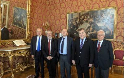 Titular de CSJ en audiencia con magistrados en Italia
