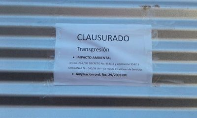 Comitiva Municipal clausura Estación de Servicio