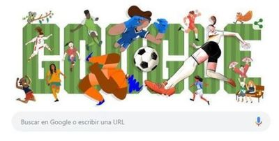 Google dedica su portada al Mundial femenino