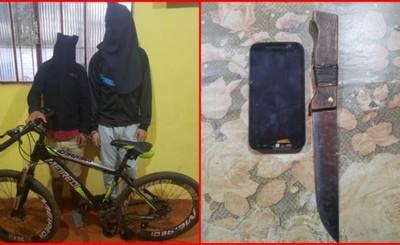 Adolescentes detenidos por hurtar bicicleta