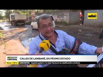 Calles de Lambaré, en pésimo estado