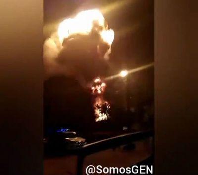 Grandes explosiones se producen en Villa Elisa