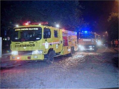 Depósito de combustible se incendió en Villa Elisa