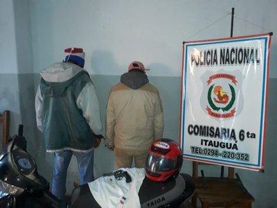 Detienen a supuestos motochorros en Itauguá