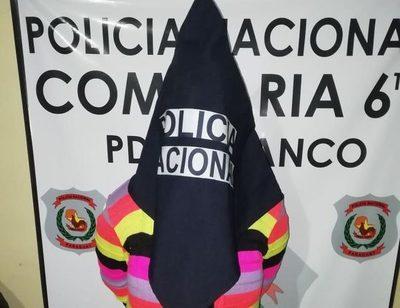Mujer detenida tras morder a su concubino en el mentón