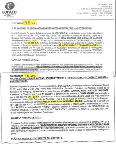Duran tres años contratos del plan nacional banda ancha de la Copaco