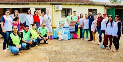 Brindan asistencia médica y entregan alimentos a Hogar de ancianos San Agustín