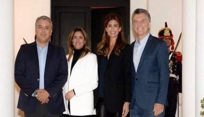 Iván Duque y su esposa inician visita a Argentina con una cena con los Macri