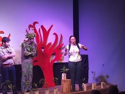 Estudiantes apreciaron obras teatrales de contenido ambiental