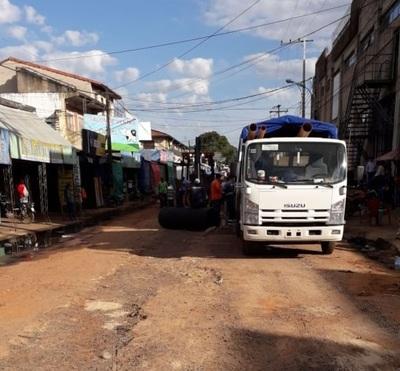 Culminan trabajos del primer tramo de desagüe cloacal en el mercado de Luque