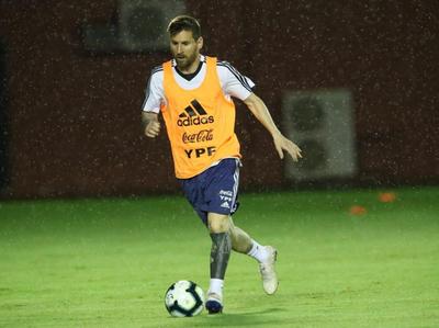 Argentina y su primer entrenamiento en Brasil