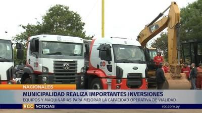 Asunción invierte cerca del millón de dólares en maquinarias y equipos