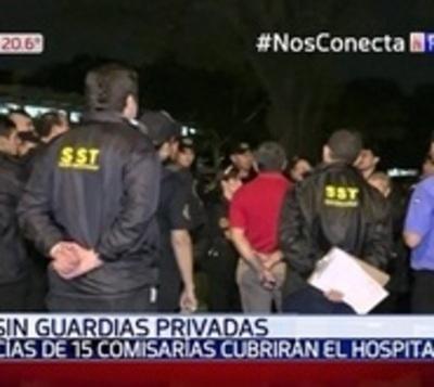 IPS se queda sin guardias y resguardo queda a cargo de la Policía