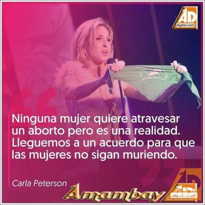Carla Peterson  se llevó un  Martín Fierro como mejor actriz y alzó su pañuelo  a favor del aborto