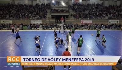 Fernheim y Menno mano a mano por el torneo de Vóley del Menefepa