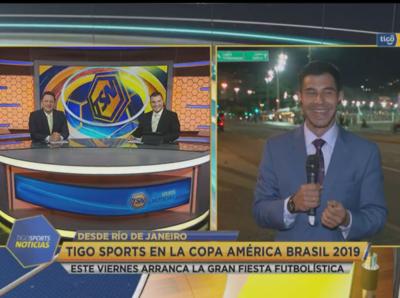 En Rio de Janeiro ya hay ambiente de Copa América
