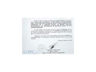 Ahora proponen a mimado de Petta como asesor del MEC