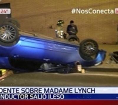 Imprudencia causó grave accidente sobre Madame Lynch