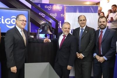 Tigo bate récords en la bolsa de valores de Asunción
