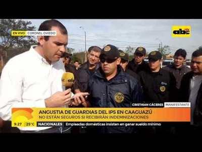 Angustia de guardias del IPS en Caaguazú