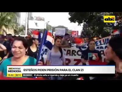 Esteños piden prisión para el Clan ZI