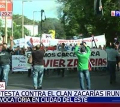 Movilización contra clan Zacarías y crisis económica en CDE