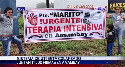 Pobladores piden a gritos terapia intensiva en Pedro Juan Caballero
