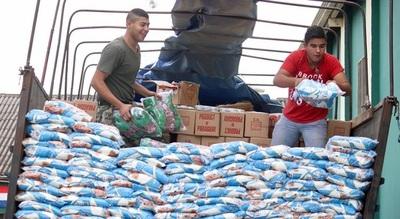 APF dona 21 mil kilos de víveres para damnificados