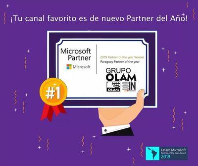 """Microsoft reconoce por 6ta vez al Grupo OLAM como """"Mejor Partner del Año"""" de Paraguay"""