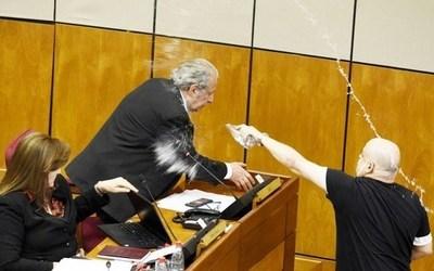 """PAYO CUBAS VUELVE AL SENADO Y GALAVERNA LO RECIBE DICIÉNDOLE """"BADULAQUE"""""""
