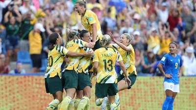 Los goles del triunfo de Australia sobre Brasil, en el Mundial Femenino.