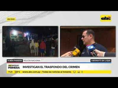 Asesinato en Luque: Agentes policiales realizan allanamiento