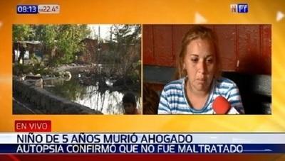 Madre de niño ahogado afirma que fue un descuido