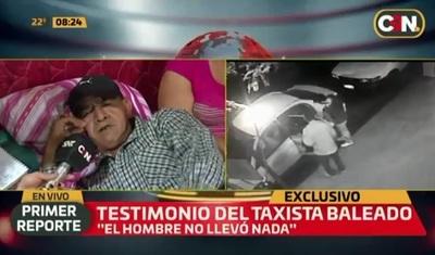 Taxista baleado relata cómo se sucedieron los hechos