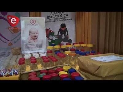 ENTREGAN FRASCOS RECOLECTADOS PARA CAMPAÑA NACIONAL DE LACTANCIA