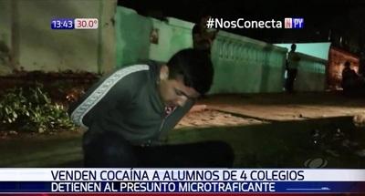 Detienen a joven que vendía drogas cerca de colegios