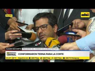 Claudio Bacchetta sobre conformación de terna para la corte