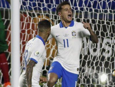 Brasil golea a Bolivia en Copa