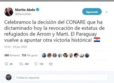 Marito y Fiscalía festejaron la cancelación del estatus