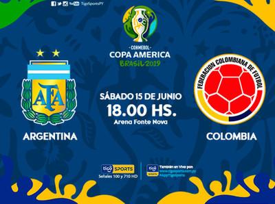 Colombia y Argentina abren el Grupo B