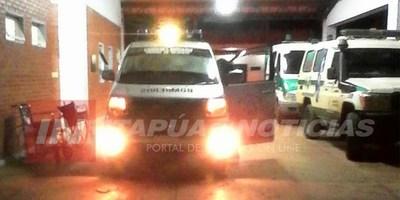 MOTOCICLISTA SUFRE ACCIDENTE EN CAMINO VECINAL DE CNEL. BOGADO.
