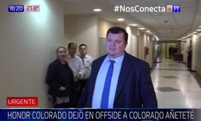 Honor Colorado baja el pulgar a Dionisio Amarilla