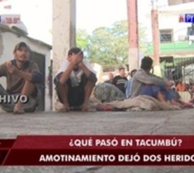 Amotinamiento en Tacumbú deja dos heridos