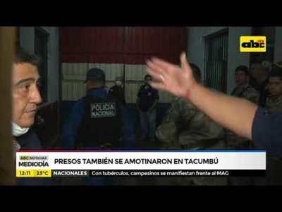Presos también se amotinaron en Tacumbú