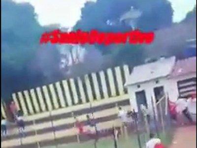 Batalla campal tras partido de Liga Sanlorenzana