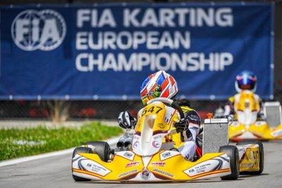 Samaniego, en la final de Karting